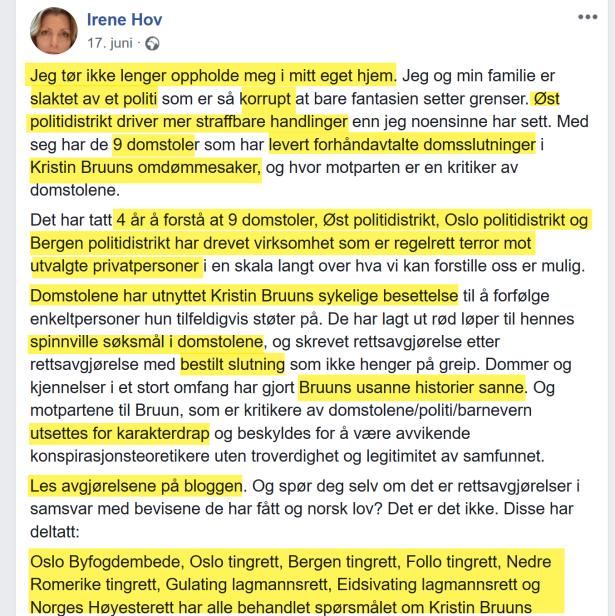 Irene Hov bryter det tredje besøksforbudet mot Kristin Bruun