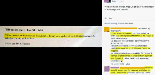 Irene Hov og Nina Driveklepp med trusler mot Kristin Bruun