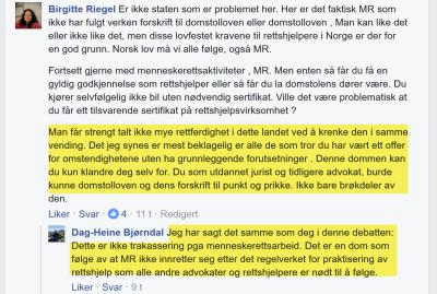 Birgitte Riegel og Dag-Heine Bjørndal konfronterer Marius Reikerås med fakta om dom og avskilting på forbilledlig vis.