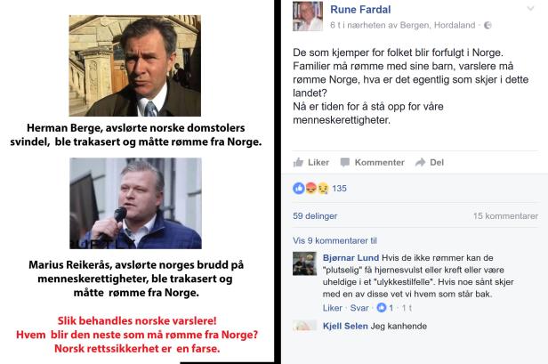 Rune Fardal sammenligner de to fiendene Marius Reikerås og Herman Berge som ble splittet opp av Irene Hovs grove trakassering før hun avslørte Marius Reikerås som en løgner.