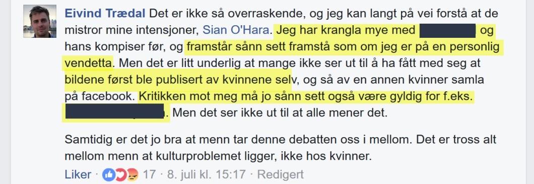 Eivind Trædal (MDG) innrømmer at saken bunner i personlig konflikt