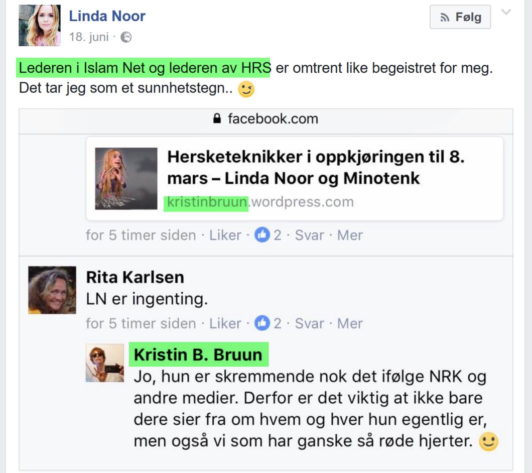 Det rabler for Linda Noor