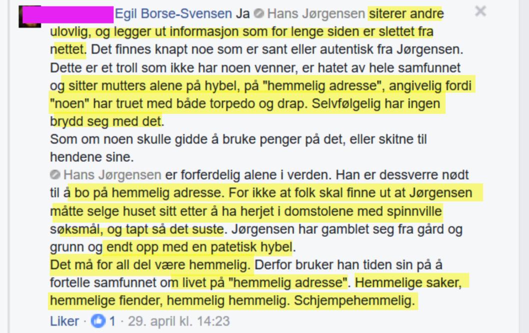 Irene Hov bryter det første besøksforbudet mot Bruun 29.04.2017