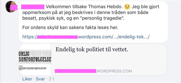 """Irene Hov oppsøker Thomas """"Hebdo"""" Knarvik for å spre sjikanebloggen om Bruun"""