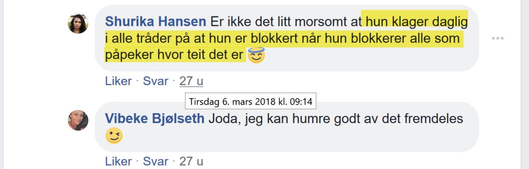 Shurika Hansen og Vibeke Bjølseth sjikanerer Bruun hos Thomas Hebdo