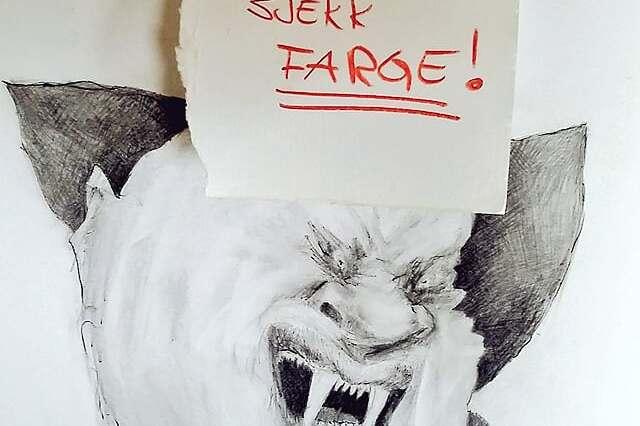 Sjekk hudfarge! Tegning: Kristin B. Bruun