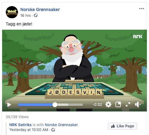 Norske Grønnsaker: Tagg en jøde! NRK Satiriks